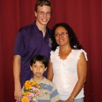 Thomas with host mother, Eliana Mauriola, and host brother, Mathias.