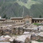 Structures at the main complex of Ollantaytambo.