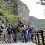 Goshen College students say farewell to Machu Picchu by flapping their  arms and pretending they  are condors. We don't know why.