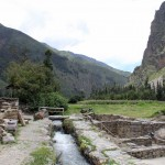 A water channel at the main complex of Ollantaytambo.