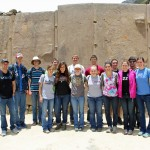 A group photo at Ollantaytambo.