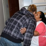 Derek bids farewell to Alicia Taipe Tello, the Peru SST program assistant.