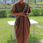 Dean, wearing an indigenous garment known as a cushma, discusses Ashaninka farming practices.