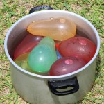 Water balloons prepared for the carnival battle.