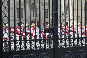 The changing of the guard ceremony at the Government Palace.