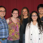Miranda with host parents Giuseppe and Martha Castellano Morales and host siblings Giuseppino and Antonella.
