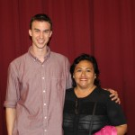 Joel with host mother Cecilia Nue Pereda.