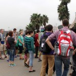 Students at the Parque de la Muralla (Park of the Wall) beside the Rimac River in downtown Lima.