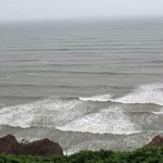 The Pacific Ocean viewed from a park in the Miraflores district of Lima.