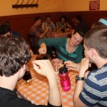 Jaime and other students enjoy a drink at Bar Cordano.