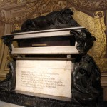 The tomb of Francisco Pizarro, who conquered the Inca empire.