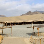 The visitor services area at Caral.