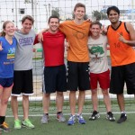 The winning team included Emma, Tim, Brian, Derek, Stefan and a Peruvian friend.
