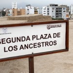 A plaza of ancestors, where graves were discovered