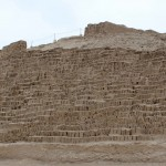 The adobe bricks do not need protection in Lima's dry climate.