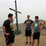 Michael, Joel and Alejandro atop a small mountain in Puente Piedra.