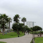 The Malecon, which is in the Miraflores district of Lima, consists of a series of parks on the cliffs above the Pacific Ocean.
