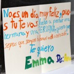A note from Emma's loving host sister in Lima. The note expresses sadness that Emma left for service.