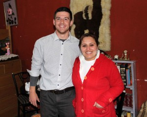 Brian with  his host mother, Yadira.