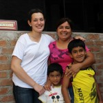 Jaime with her host mother, Rosemary, and host brothers, Henry and Luis.