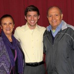 Stefan with his host parents, Sonia and Percy Peralta Olaechea.