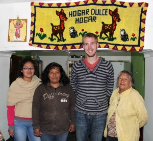 Matt with members of his host family, including host mother, Rocio.