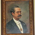 A portrait of Ricardo Palma, who lived from 1833 to 1919 and is considered one of Peru's finest writers.