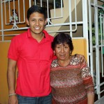 Alejandro with his host mother, Ercilia.