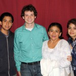 Brody with  host brother, Isaac, host mother, Malena Carrasco Sirlopu, and host sister, Noemi.
