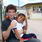 Brody and a friend at Jardín de Ninos Los Jazmines preschool.