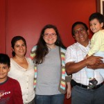 Miranda with her host parents, Bertha and Vicente, and host brothers, Vicentino and Fabian.