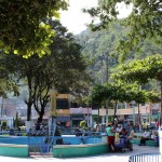 The main plaza in Perené, which is also known as Santa Ana.