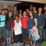 Students pose for a final photo with Alicia Taipe Tello, the excellent cook and program assistant for the Peru SST unit.