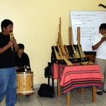 Mauro and Pablo converse with a pan flute melody that jumped rapidly between them - an example of Andean duality.