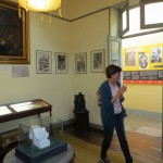 Peru SST Co-Director Judy Weaver walks through an exhibit room at the Casa Museo Ricardo Palma.