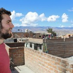 Andrew admires a view of Ayacucho.