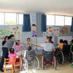 The clinic serves children with special needs.