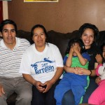 Edith with her host parents, Dionisio and Elizabeth, and host sisters, Wanda and Wendy.
