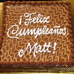 Matt's birthday cake.