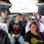 On the bus, on the way to our Cusco hotel