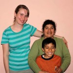 Leah with her host mother, Nieves, and host brother, Javier.