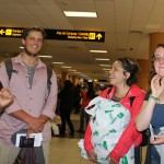 Excitement builds as students prepare to head toward their airline departure gate.