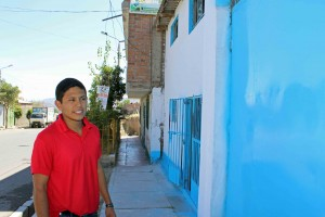 Alejandro outside a clinic where he provided service.