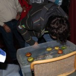Bobbing for apples.