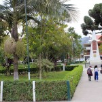 The main plaza in Oxapampa.