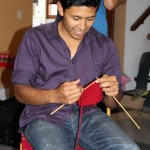 Alejandro learned how to knit while on service in Ayacucho.Leah was his teacher.