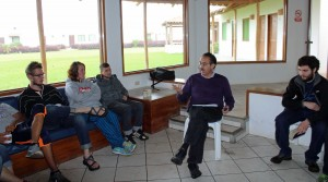 Peru SST Co-Director Richard R. Aguirre facilitates a discussion about SST goals, challenges and achievements.