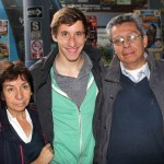 Tim with his host parents, Norma and Carlos Seson.