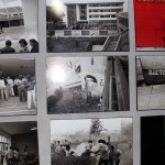 Photos depicting clashes between university students and soldiers in 1991.