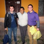 Andrew and Brian with their host dad, pastor Celestino